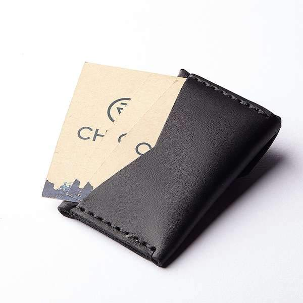 micro wallet with extra card compartment on the back