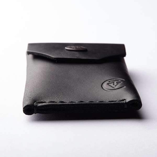 stylish leather micro wallet