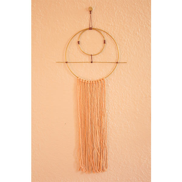 natural rope hand dyed min wall hanging
