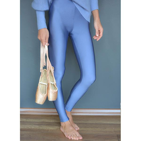 sky blue colour shiny lycra fiber flexible stylish legging