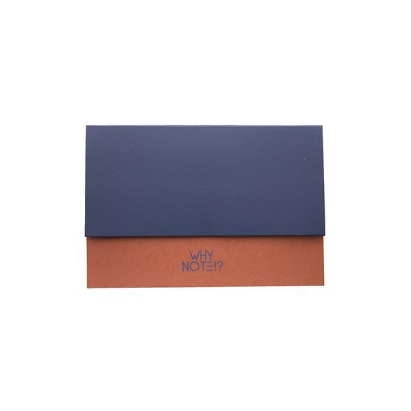 Why Note!? Orange & Blue Notebook at hippist.co.uk