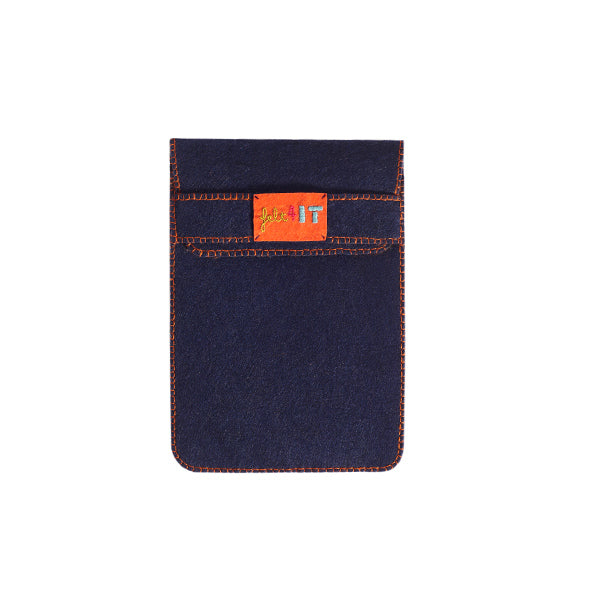 Skull Embroidered Tablet Case | Navy