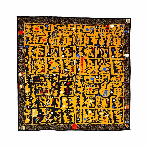 Orise Silk Scarf | Yellow