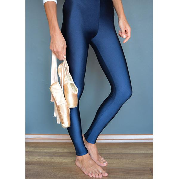 ocean blue colour shiny lycra fiber flexible stylish legging