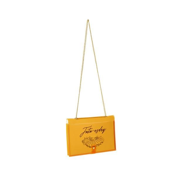 why note!? branded fun note bag series neon orange notebook bag with days cards