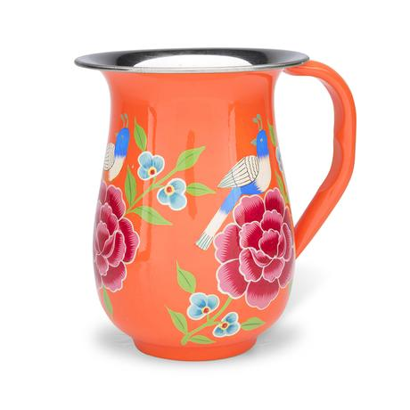 Enamel Jug | Orange Bird