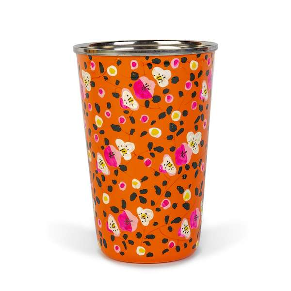 Enamel Tumbler | Orange Flowers