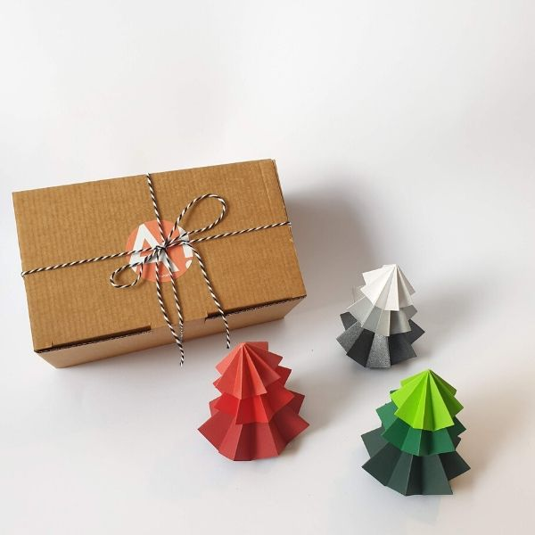 Origami Christmas Tree Trio