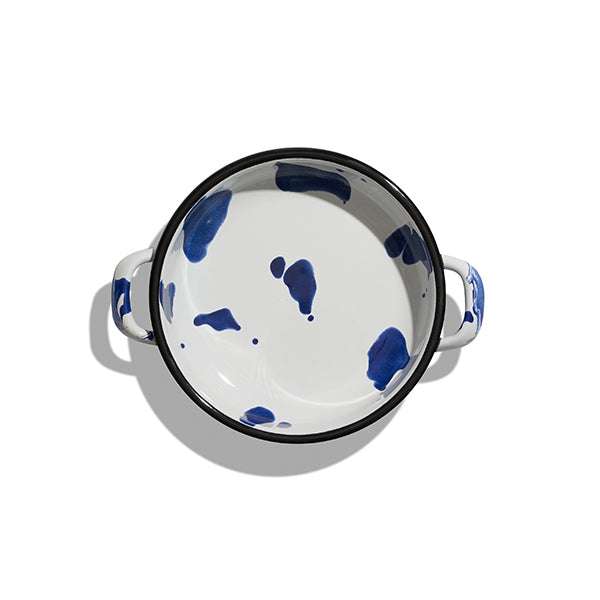 18 cm, Blue Color Enamel Pan