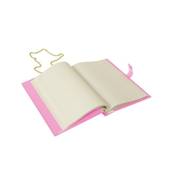 Why Note!? Branded Fun Series neon Pink open notebook bag