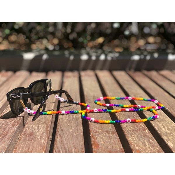 35 inch colourful beaded fashion lanyard trendy eyeglass holder - pride