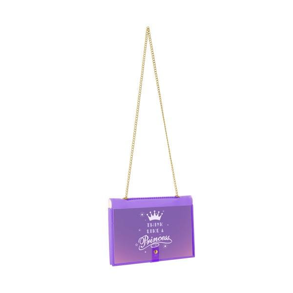 "why note!? fun notebag series neon purple bag with ""think like a princess"" printed card at hippist.co.uk"