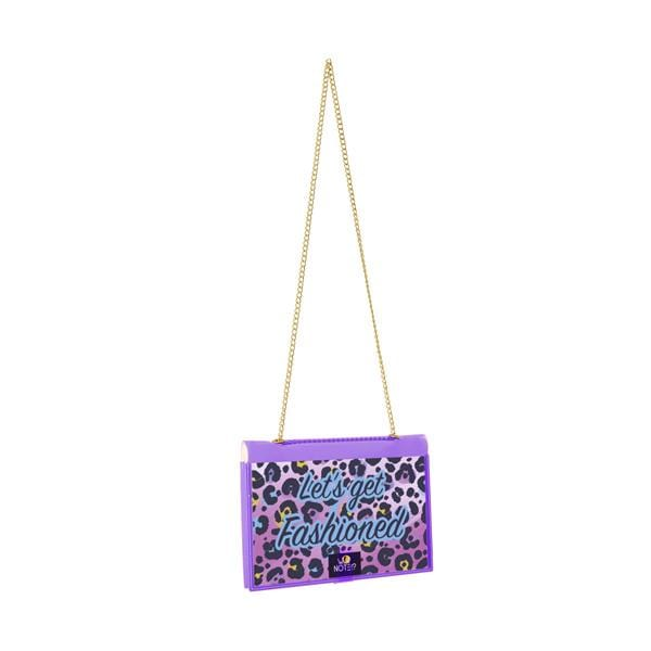 why note!? fun notebag series neon purple animal print bag with leopard printed card at hippist.co.uk