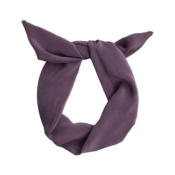 Darwin's botanicals branded purple colour hand dyed silk headband at hippist