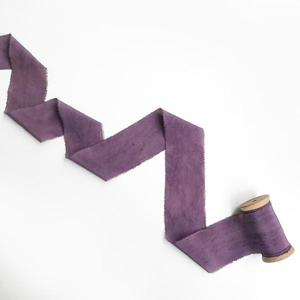 Hand Dyed Silk Ribbon | Purple