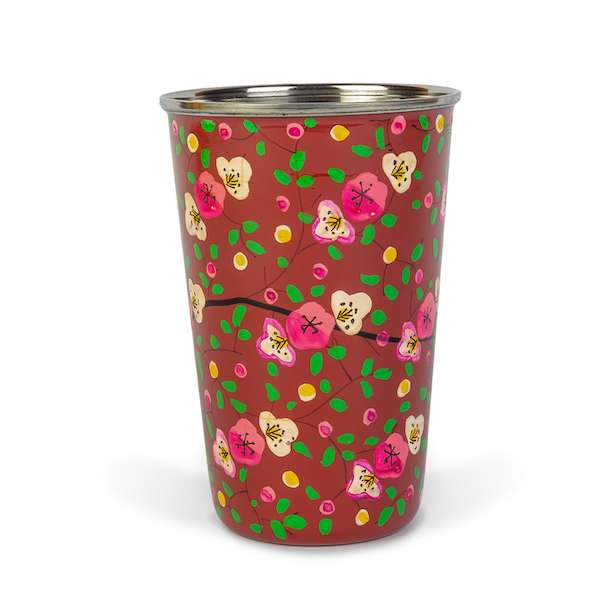 Enamel Tumbler | Red Flowers