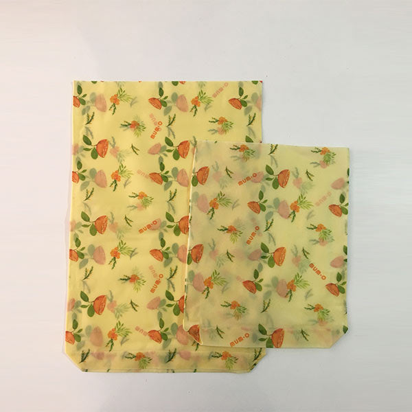 Reusable Beeswax Food Storage Bags | Set of 2