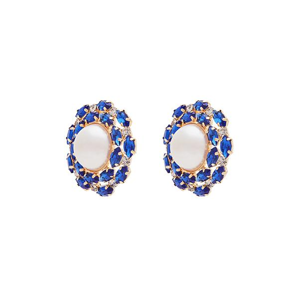 Alexis Crystal Earrings | Sapphire