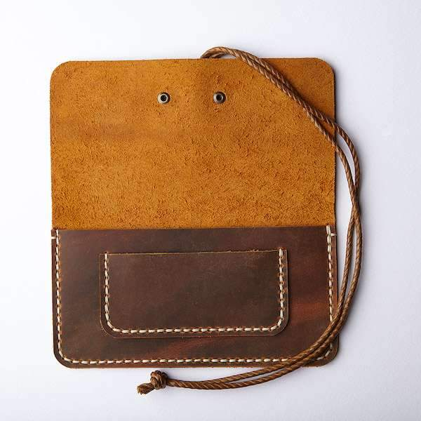 Single Sleeve Tobacco - Wrap Closure | Antique Brown