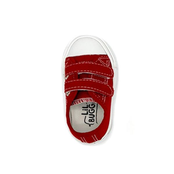 lil bugga branded red colour deck shoes at hippist for boys between 21 and 25 number