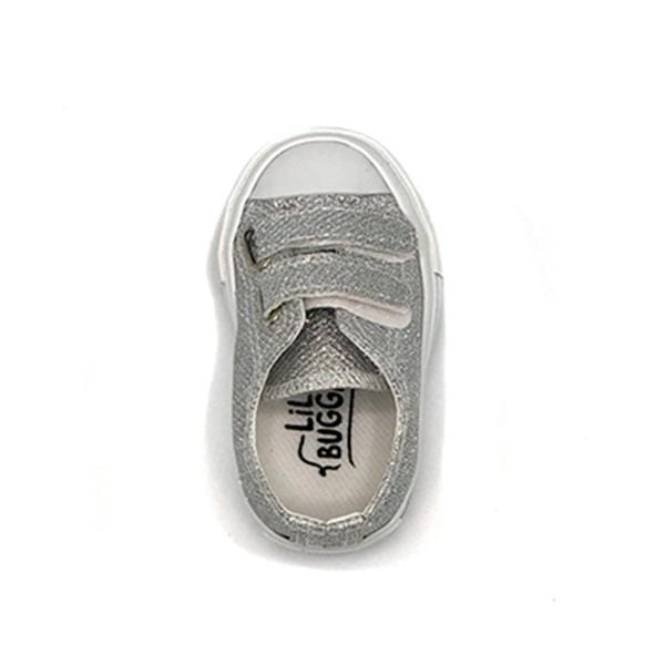 lil bugga branded silver colour deck shoes at hippist for boys between 21 and 25 number