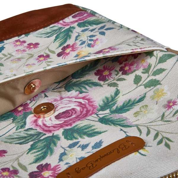 "13"" white laptop sleeve with flower prints"