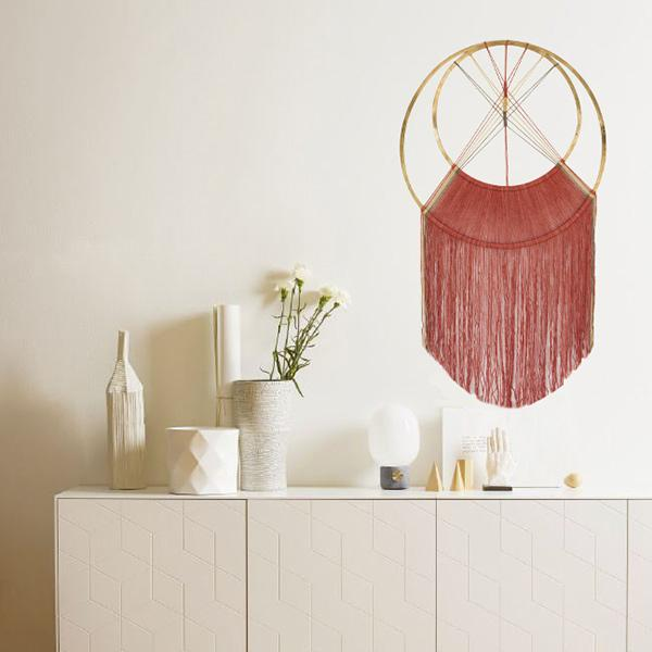 red colour hand dyed wall hanging