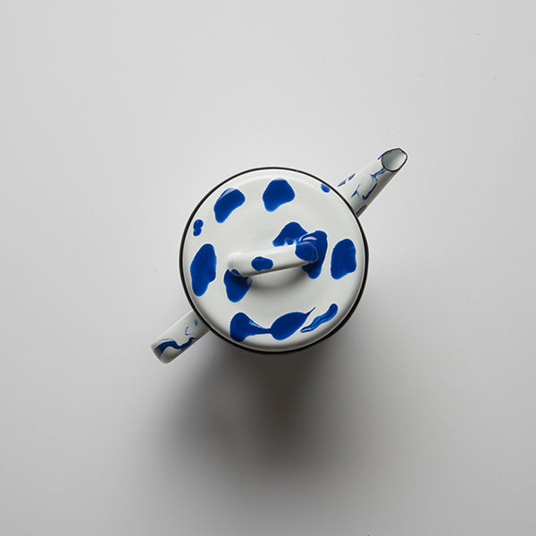 9.5 x 13 cm, Blue Color Enamel Teapot