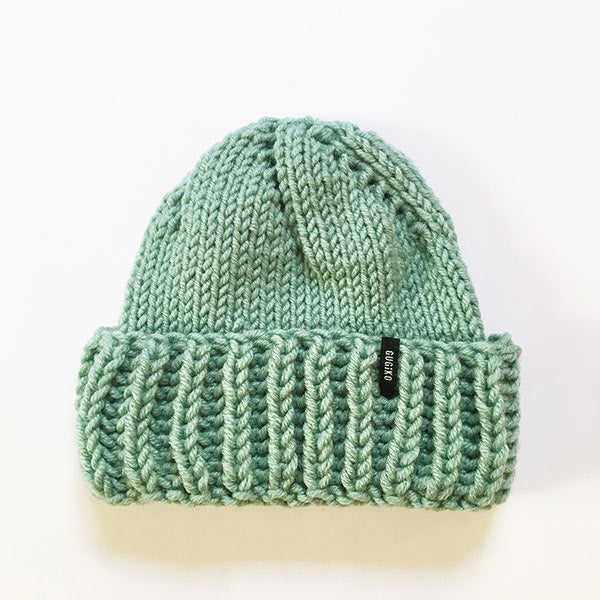 Knitted Wool Hat | Teardrop | Mint