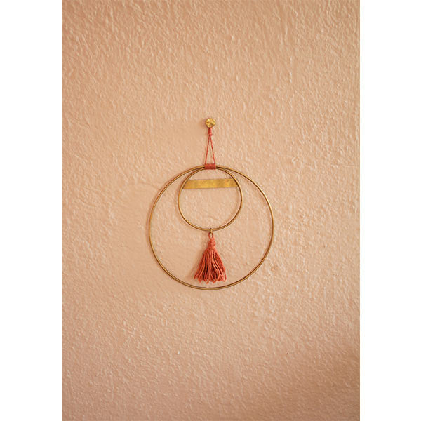 natural rope hand dyed thoth wall hanging