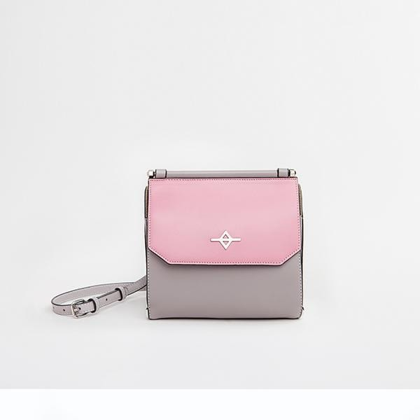 Tria Shoulder Bag | Pink & Grey