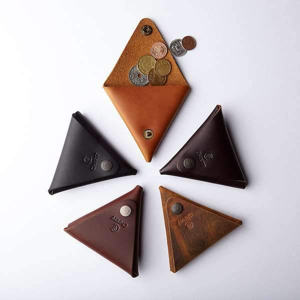 5 different colours leather coin cases
