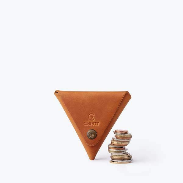 cognac colour triangle case