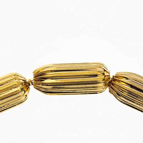Gold plated bronze and metal bracelet