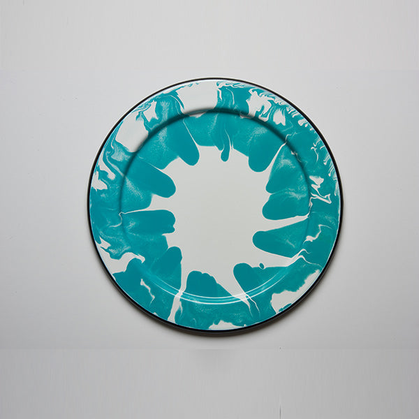 32 x 1.5 cm, Turquoise Color Enamel Underplate