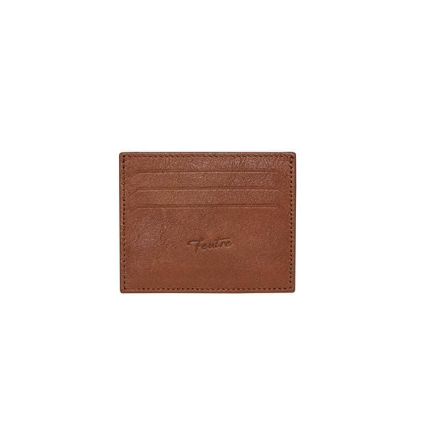 vegetable tanned leather tobacco wallet for cards at hippist