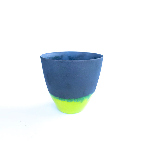 handmade ceramic neon colour tea and coffee cup or water cup at hippist