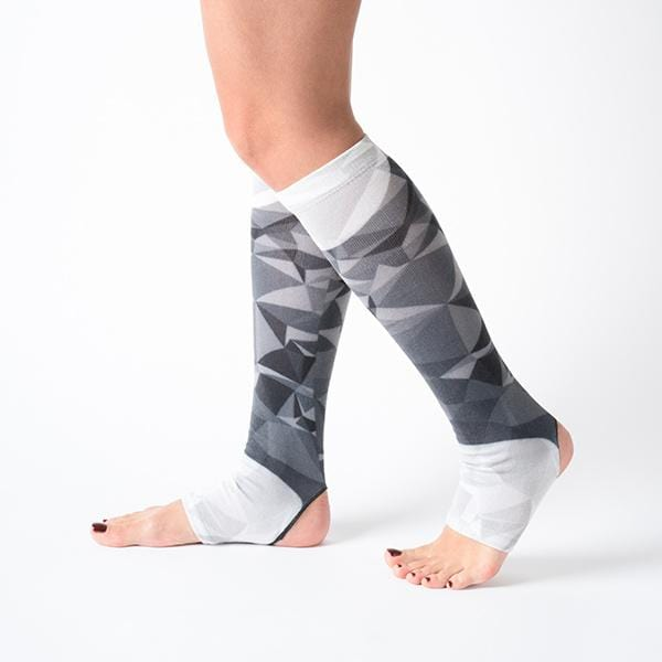 knee high black space printed flexible comfortable breathable yoga pilates socks at hippist.co.uk