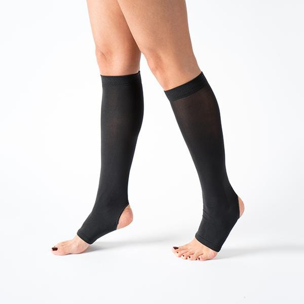 knee high black colour flexible comfortable breathable yoga pilates socks at hippist.co.uk