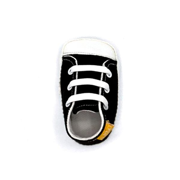 black colour handmade stylish cool comfortable baby sneakers between 17 and 19 number
