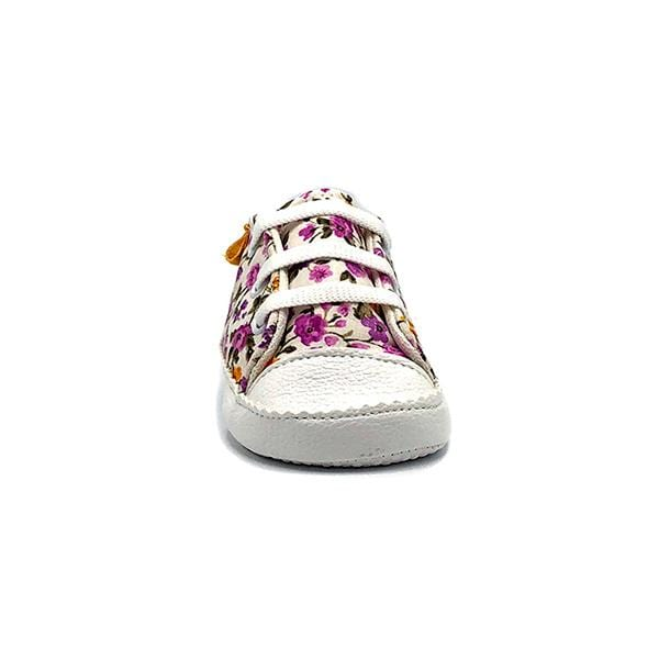 floral printed handmade stylish cool comfortable baby sneakers between 17 and 19 number