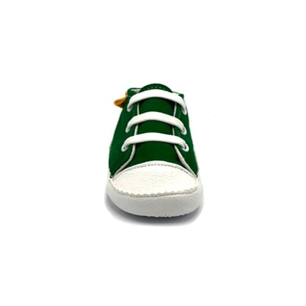 green colour handmade stylish cool comfortable baby sneakers between 17 and 19 number