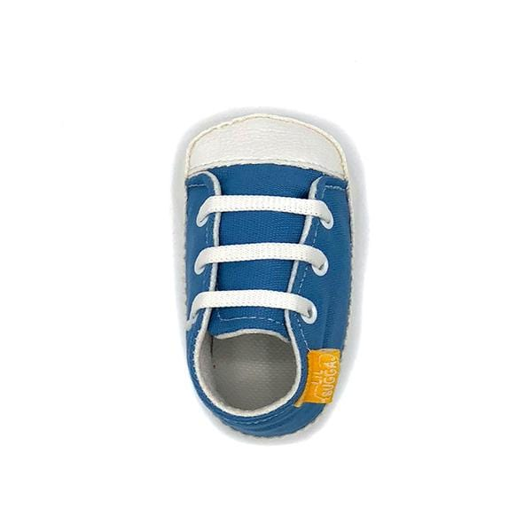 indigo colour handmade stylish cool comfortable baby sneakers between 17 and 19 number