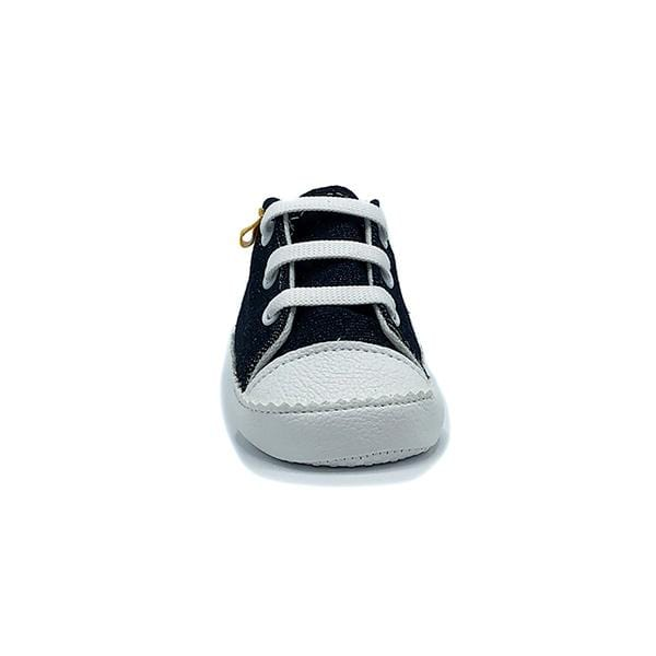 jean colour handmade stylish cool comfortable baby sneakers between 17 and 19 number