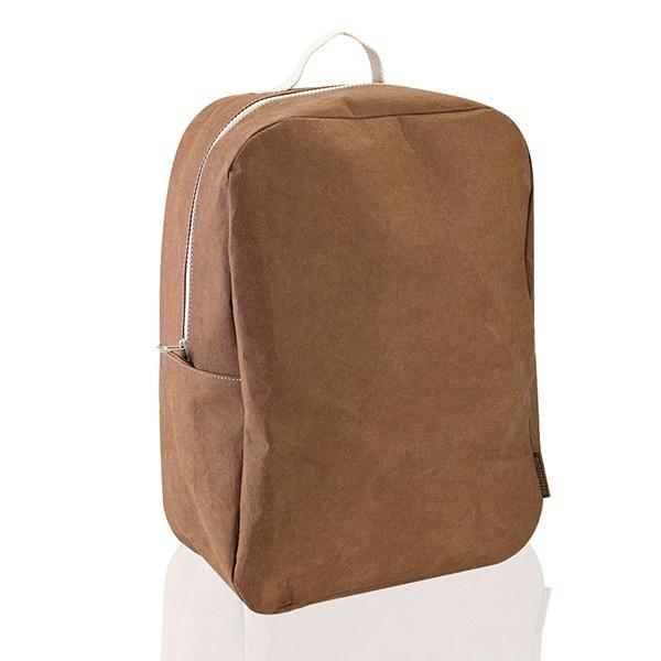 Epidotte Chocolate Colour Backpack from Eco-friendly paper at hippist.co.uk