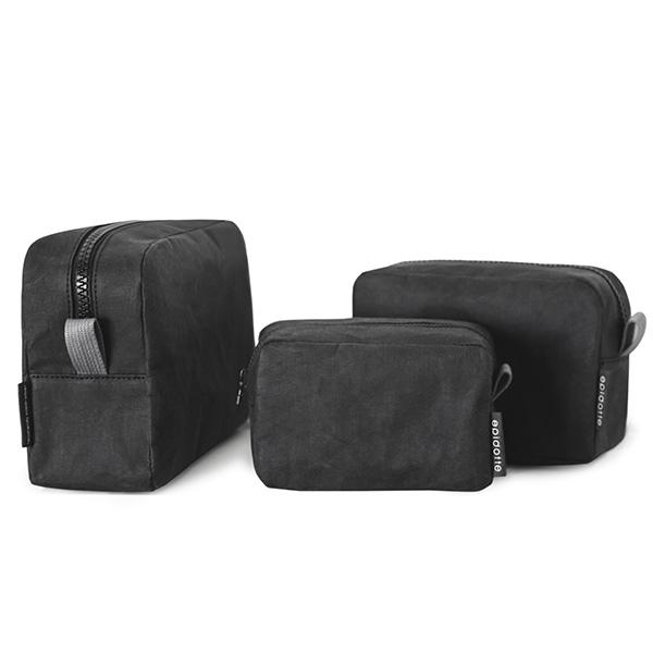 Epidotte Black Colour Large Beauty Case from Eco-friendly paper at hippist.co.uk