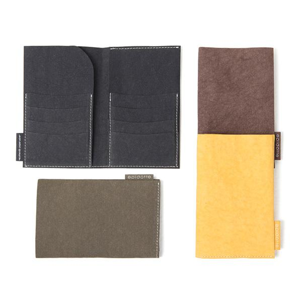 big wallet 4 different colors black brown mustard taiga from eco-friendly paper