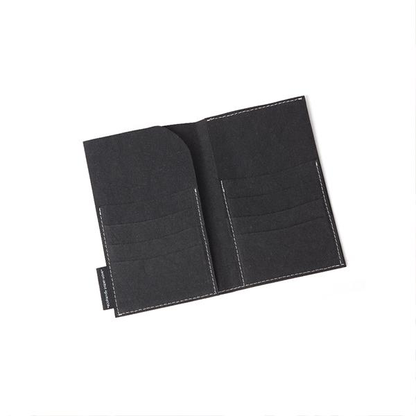 big wallet black from eco-friendly paper