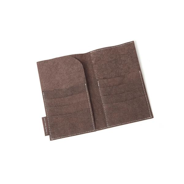 big wallet brown from eco-friendly paper