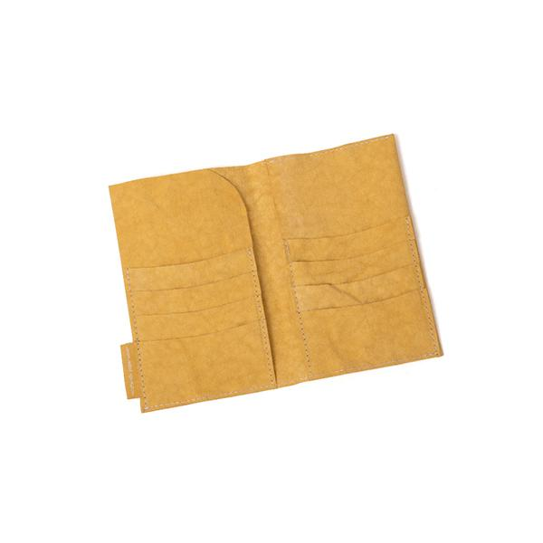big wallet mustard from eco-friendly paper